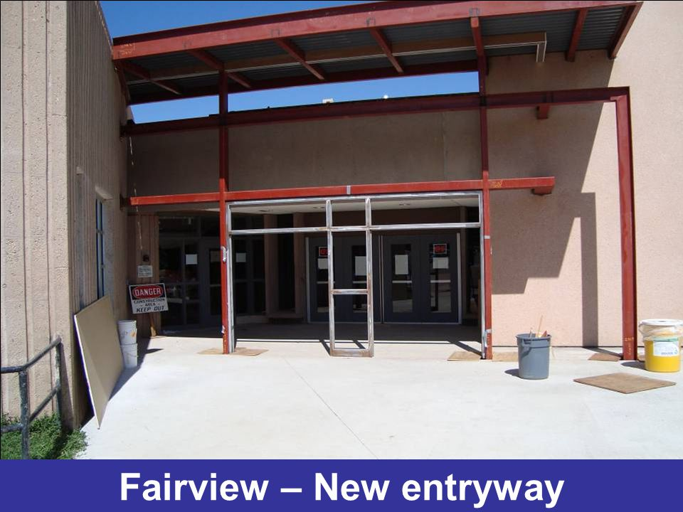 Fairview – New entryway