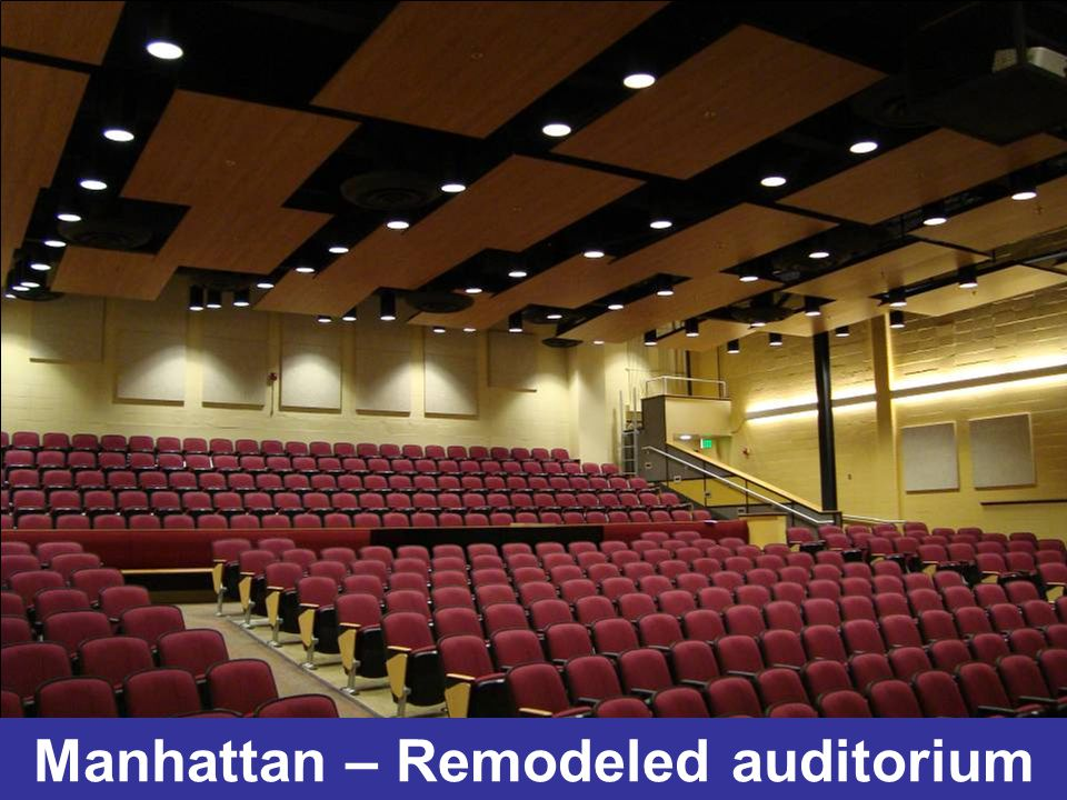 Manhattan – Remodeled auditorium
