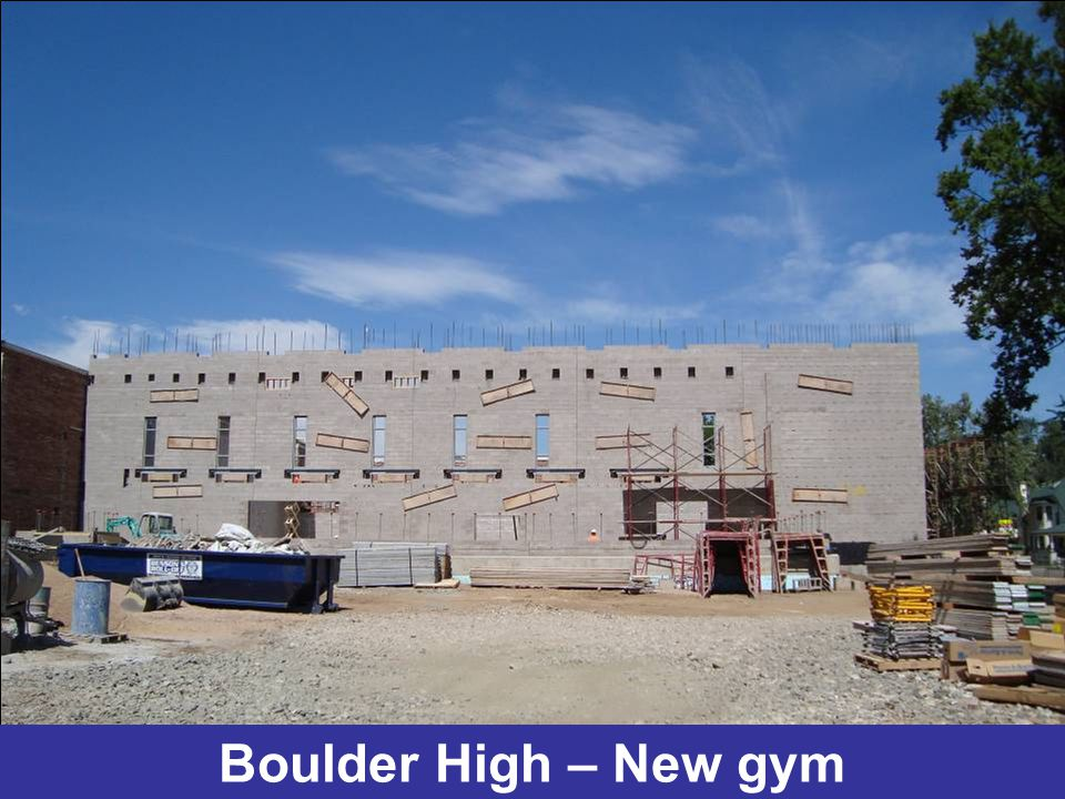 Boulder High – New gym