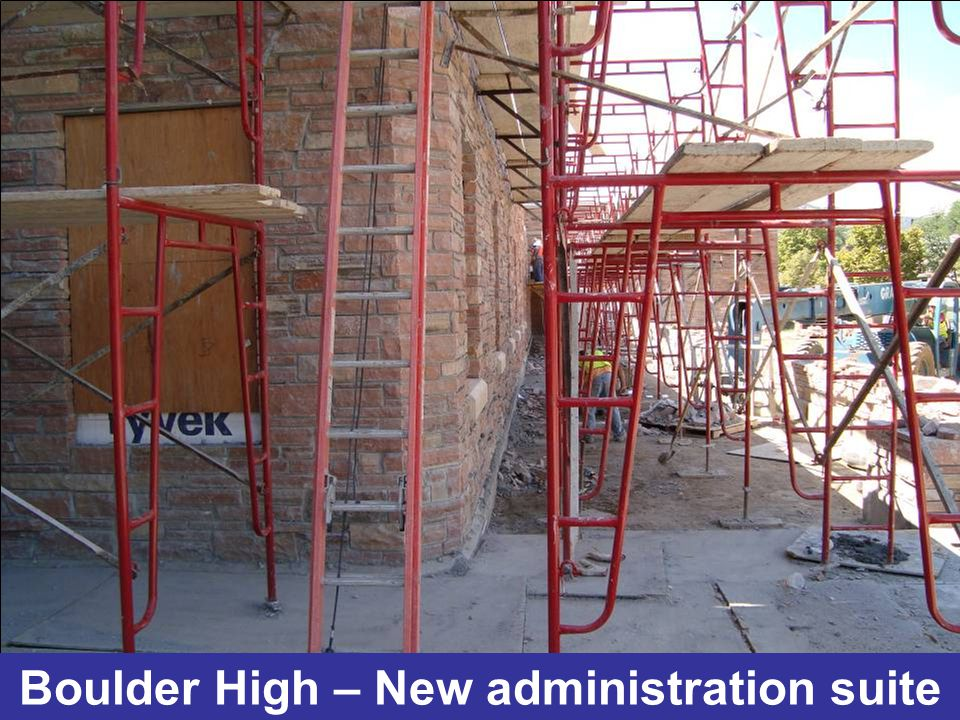 Boulder High – New administration suite