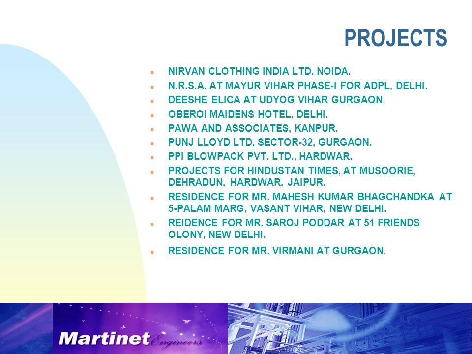 n NIRVAN CLOTHING INDIA LTD. NOIDA. n N.R.S.A. AT MAYUR VIHAR PHASE-I FOR ADPL, DELHI.