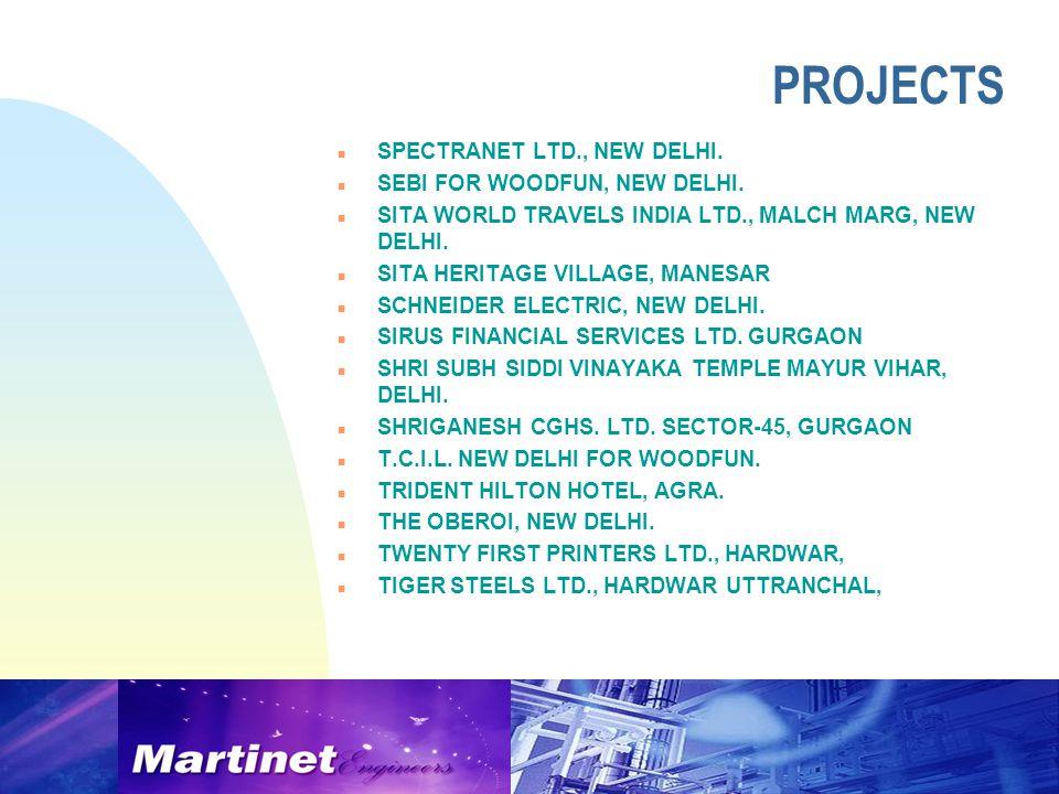 n SPECTRANET LTD., NEW DELHI. n SEBI FOR WOODFUN, NEW DELHI.