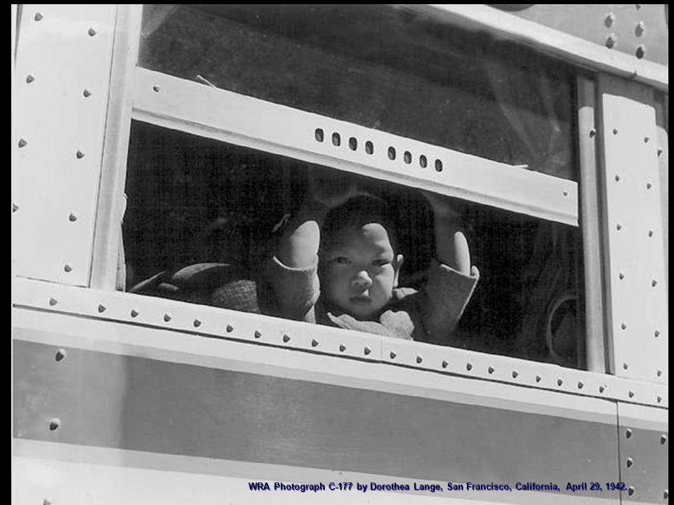WRA Photograph C-177 by Dorothea Lange, San Francisco, California, April 29, 1942.
