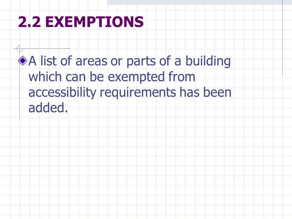 Not apply to the following areas or parts of a building (a) Commercial kitchen, cold room and cinema projector room.