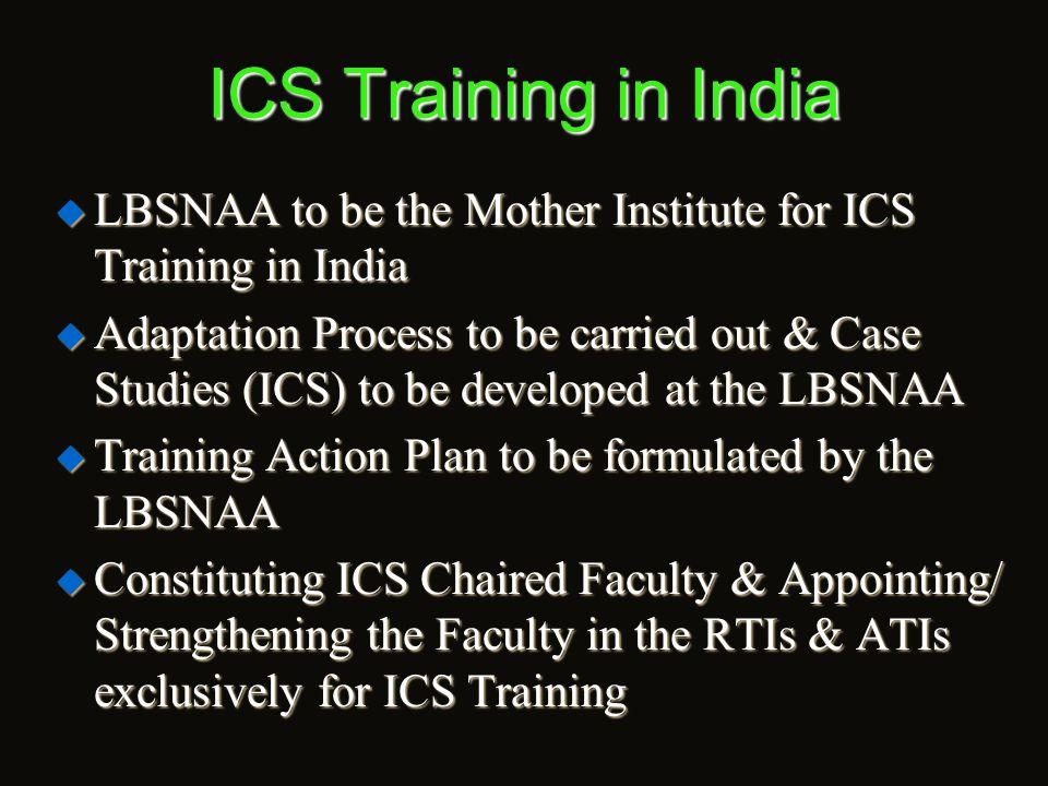 Conducting ICS TOT programmes  Sri Rajiv Ranjan Mishra, IAS., Secretary to the Govt.