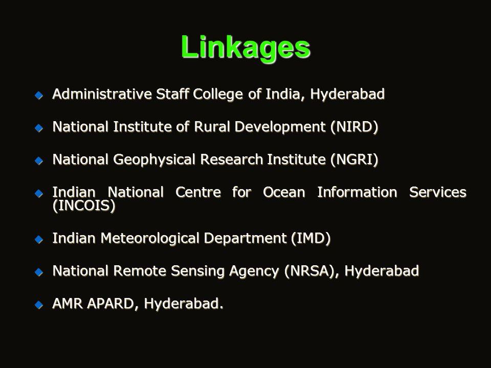 Focus of the Centre FloodsCyclonesDrought Earth Quakes and Tsunamis/Sea Erosion