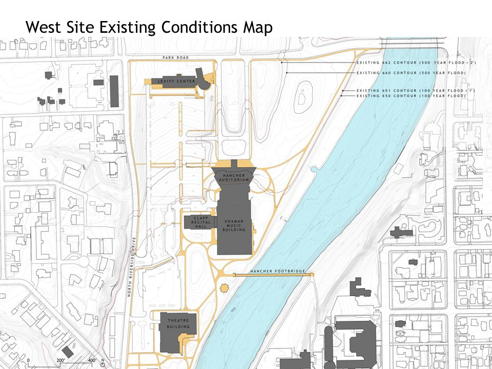 West Site Existing Conditions Map