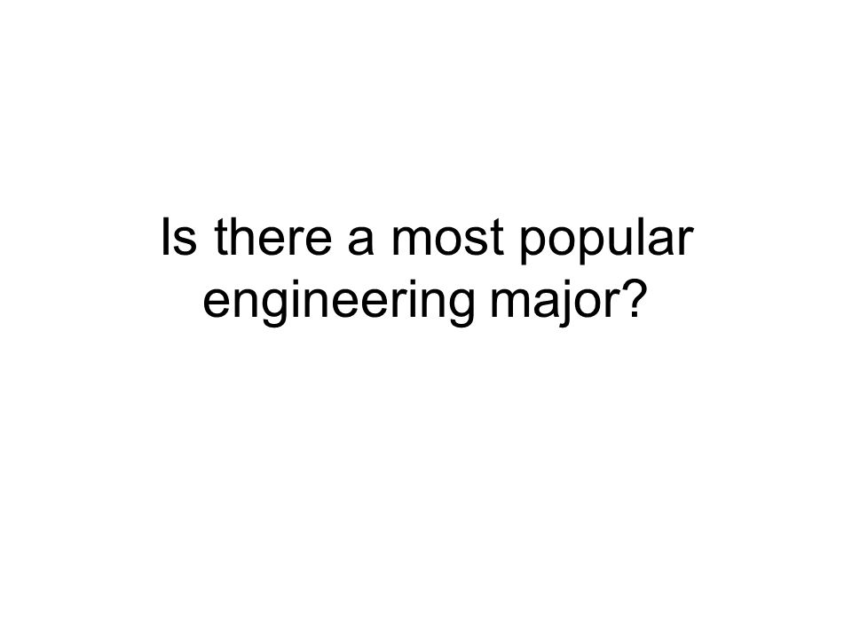 Is there a most popular engineering major
