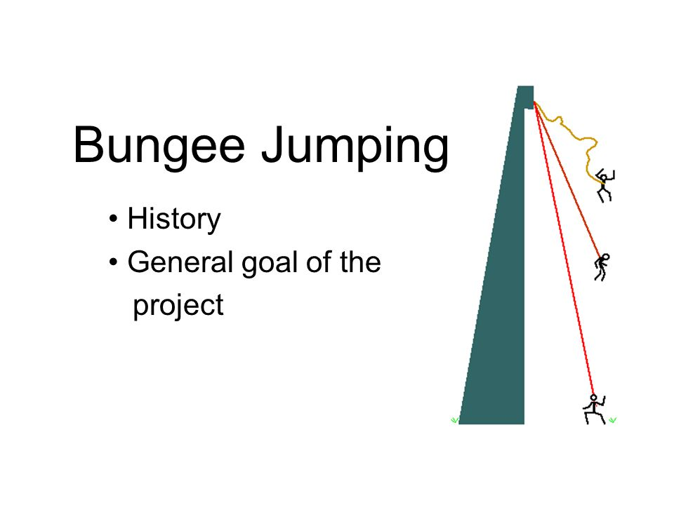 Bungee Jumping History General goal of the project
