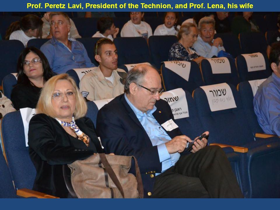 Prof. Peretz Lavi, President of the Technion, and Prof. Lena, his wife