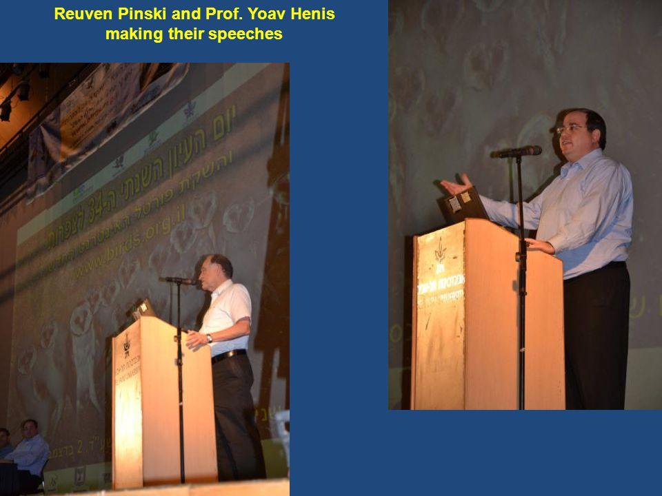 Reuven Pinski and Prof. Yoav Henis making their speeches
