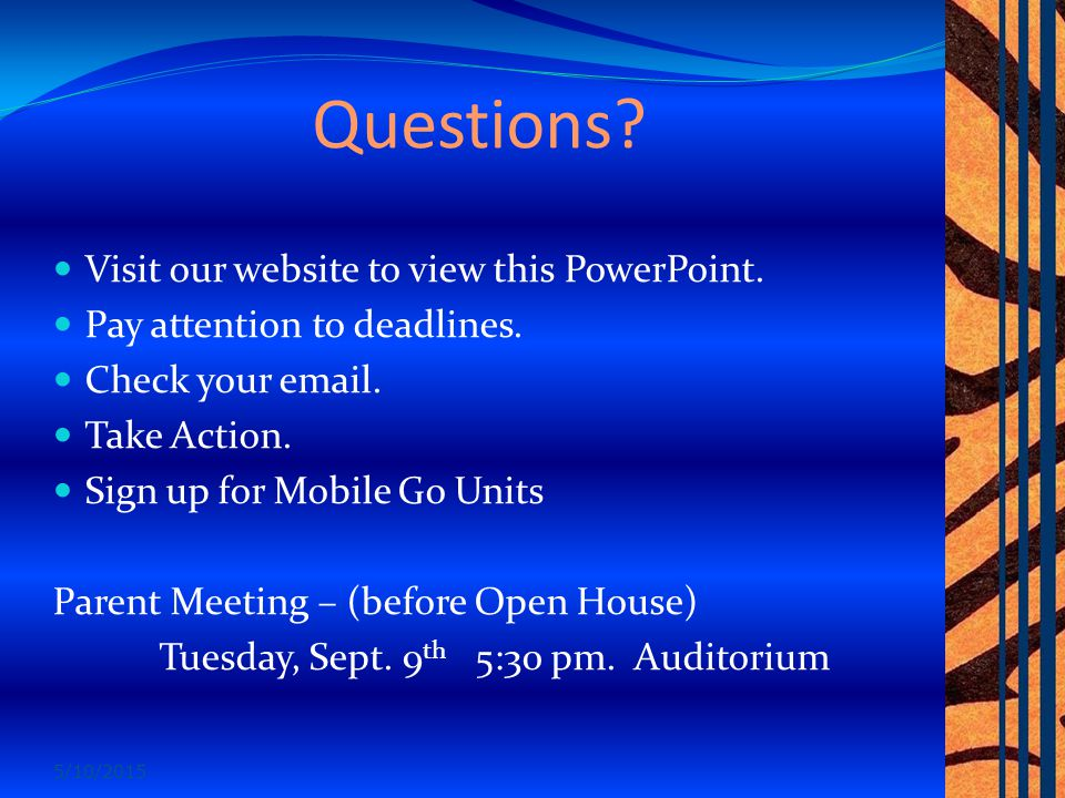 Questions. Visit our website to view this PowerPoint.