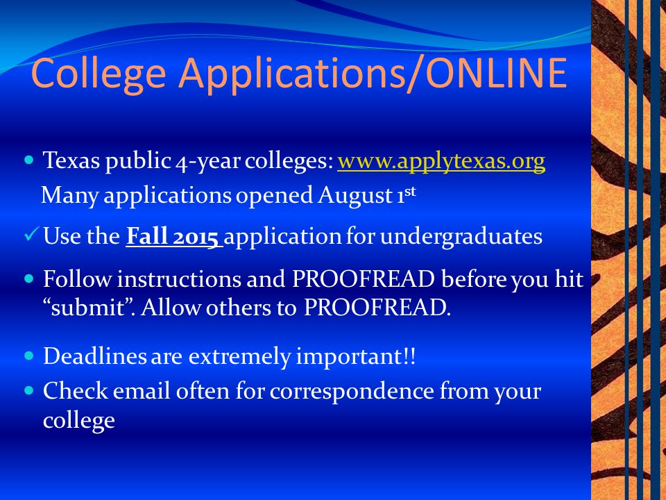 Other Applications Out-of-state.Visit the college website Private.