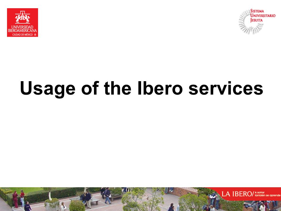 Usage of the Ibero services