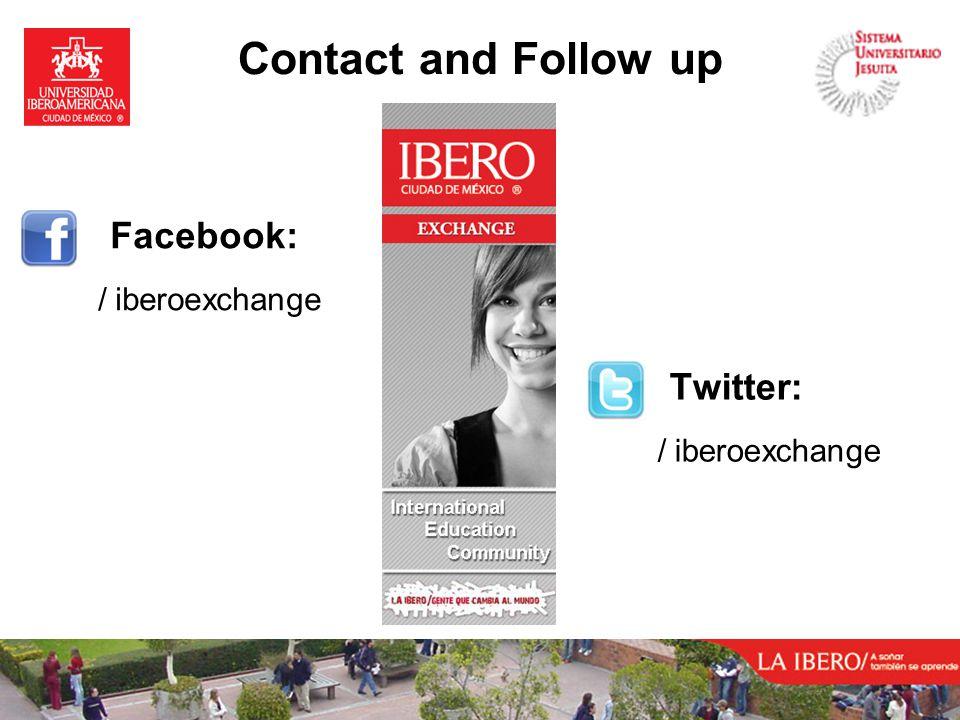 Contact and Follow up Facebook: / iberoexchange Twitter: / iberoexchange