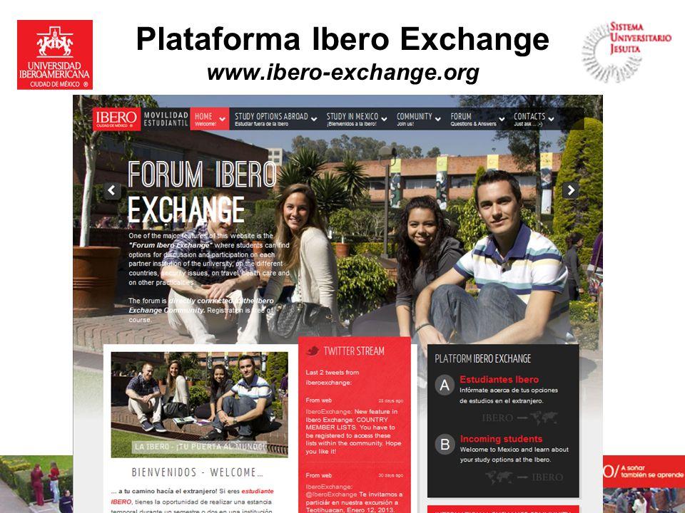 Plataforma Ibero Exchange www.ibero-exchange.org