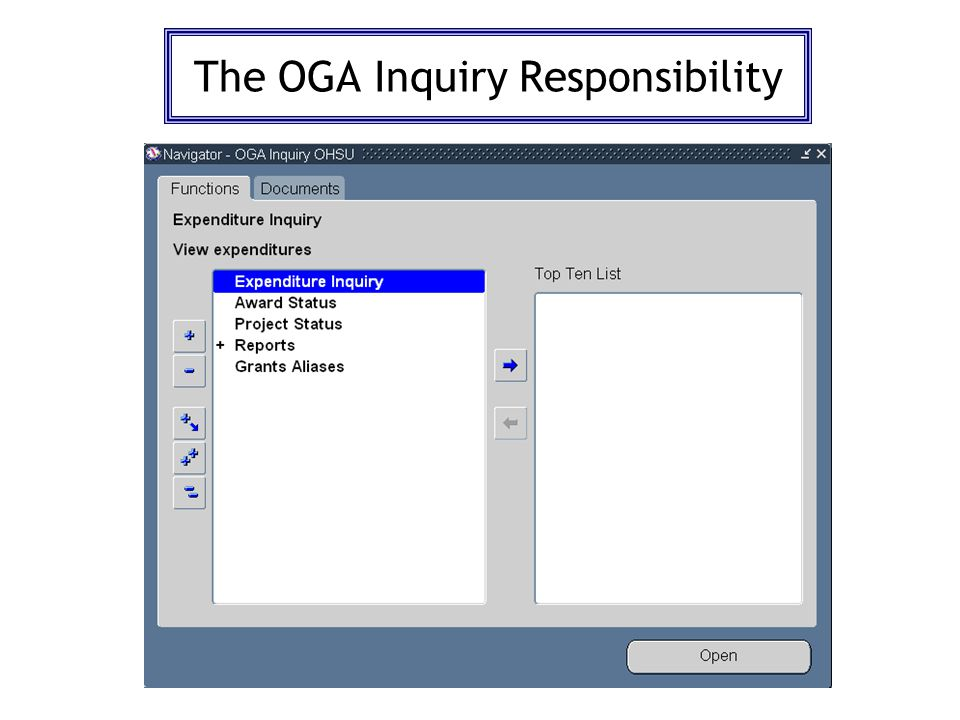 The OGA Inquiry Responsibility