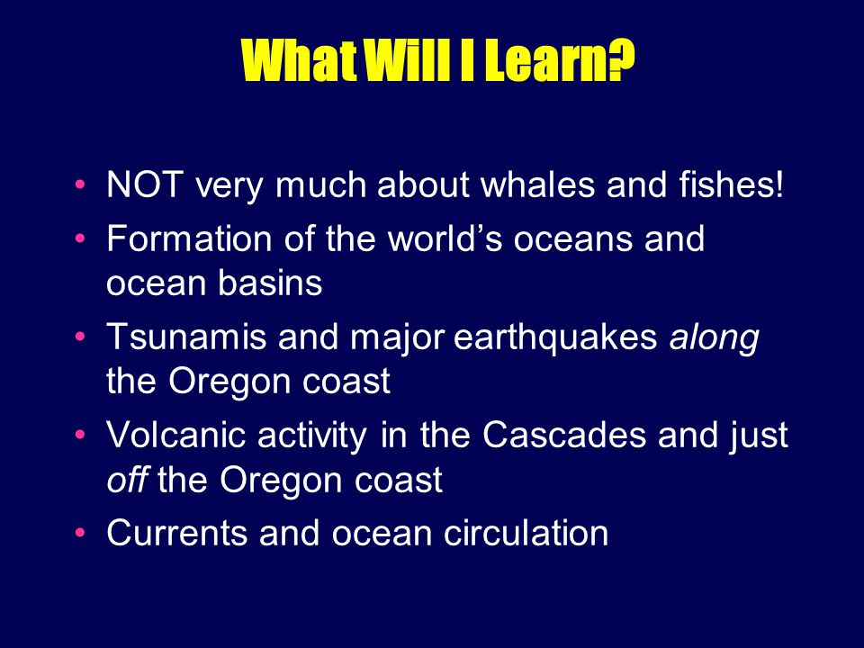 What Will I Learn. NOT very much about whales and fishes.
