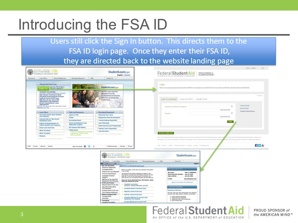 FSA ID Live Demonstration