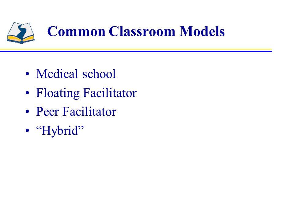 Common Classroom Models Medical school Floating Facilitator Peer Facilitator Hybrid