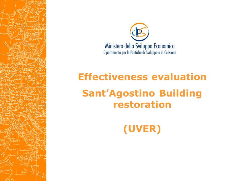 Effectiveness evaluation Sant'Agostino Building restoration (UVER)