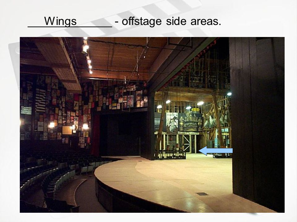 _____________ - stage position towards the back of the stage, away from the audience. Up Stage
