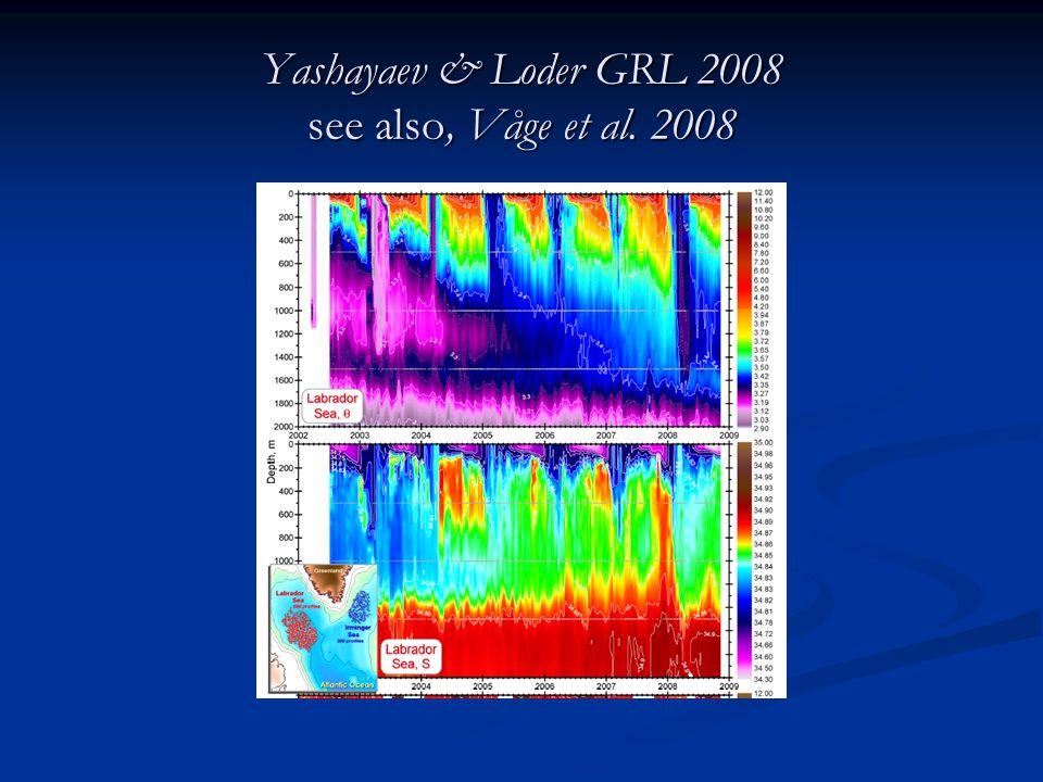 Yashayaev & Loder GRL 2008 see also, Våge et al. 2008