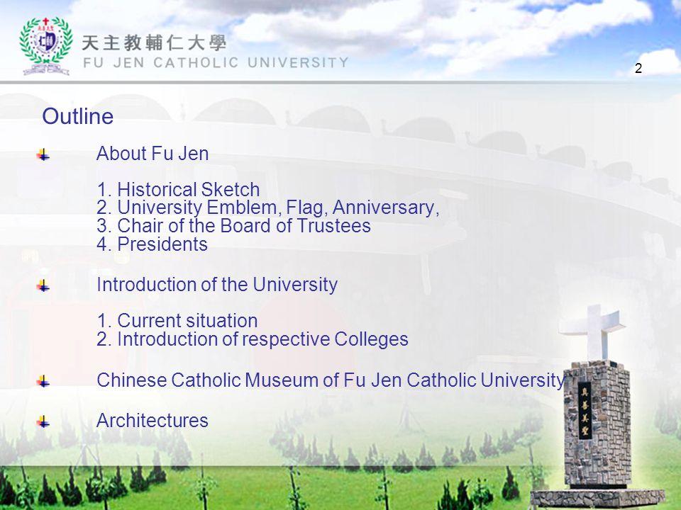 23 Current President (the Incumbent) Professor Bernard Chien-Chiu Li February 2004-Present Professor Li is an alumnus of Fu Jen, the first-year graduate of the Department of Philosophy.