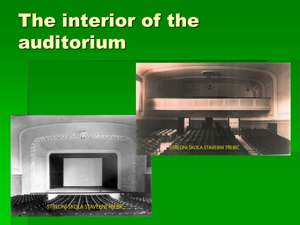 The interior of the auditorium