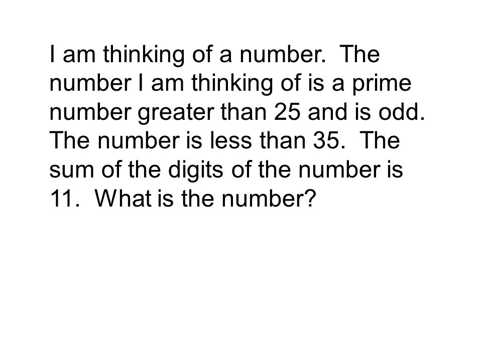 I am thinking of a number.