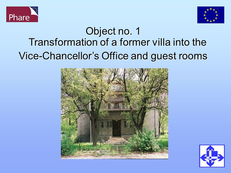 Object no. 1 Transformation of a former villa into the Vice-Chancellor's Office and guest rooms