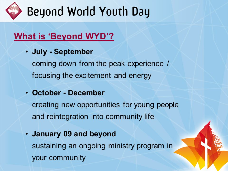What is 'Beyond WYD'.