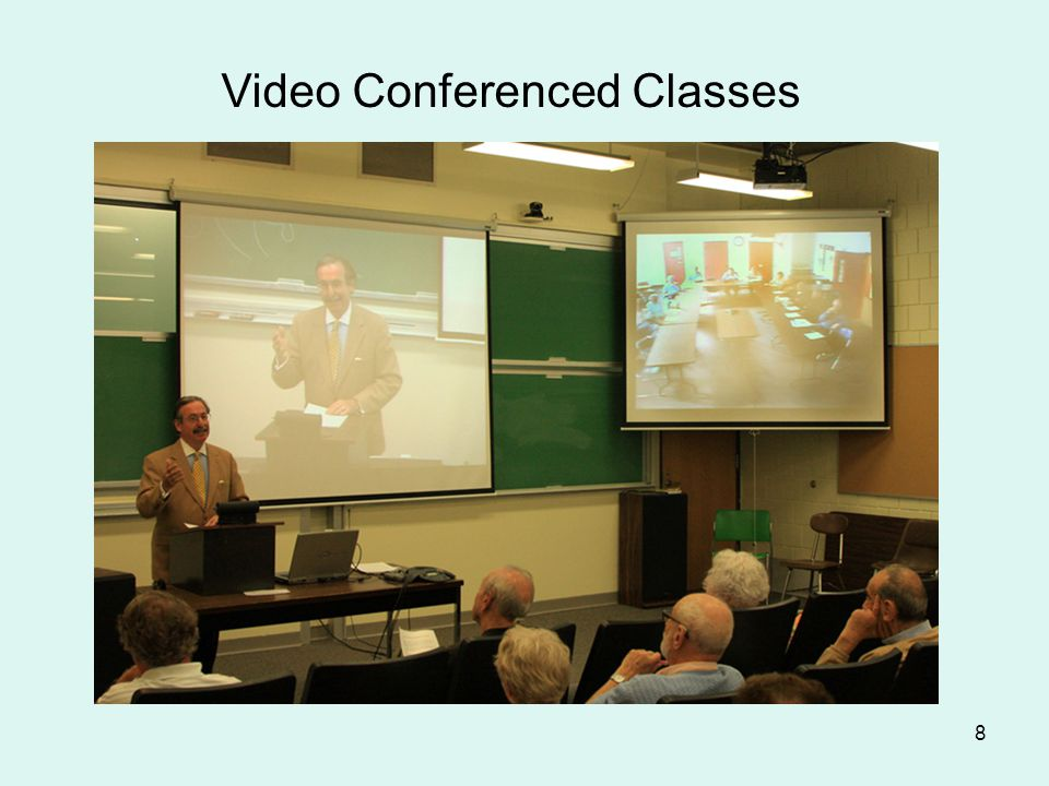 8 Video Conferenced Classes