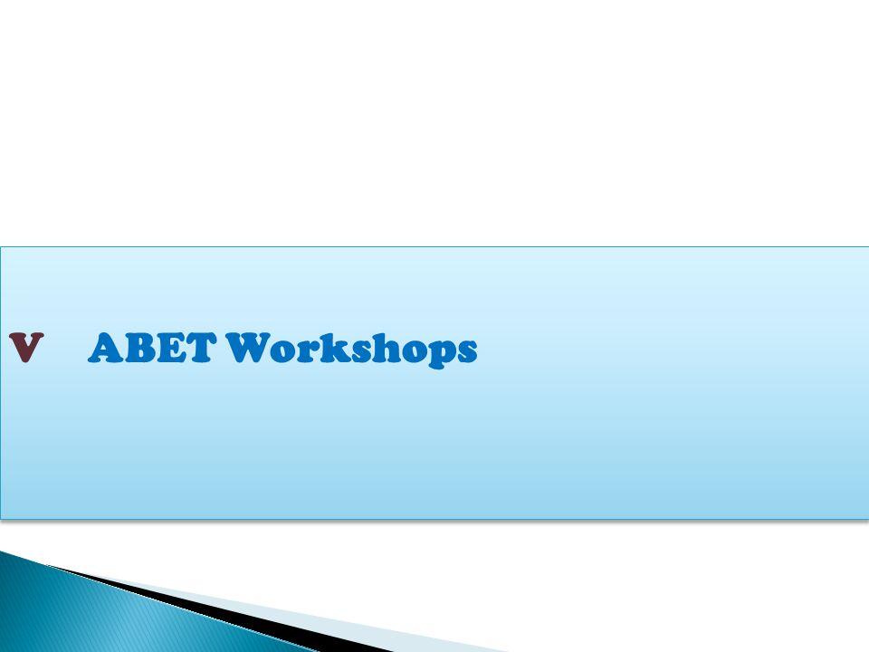 V ABET Workshops