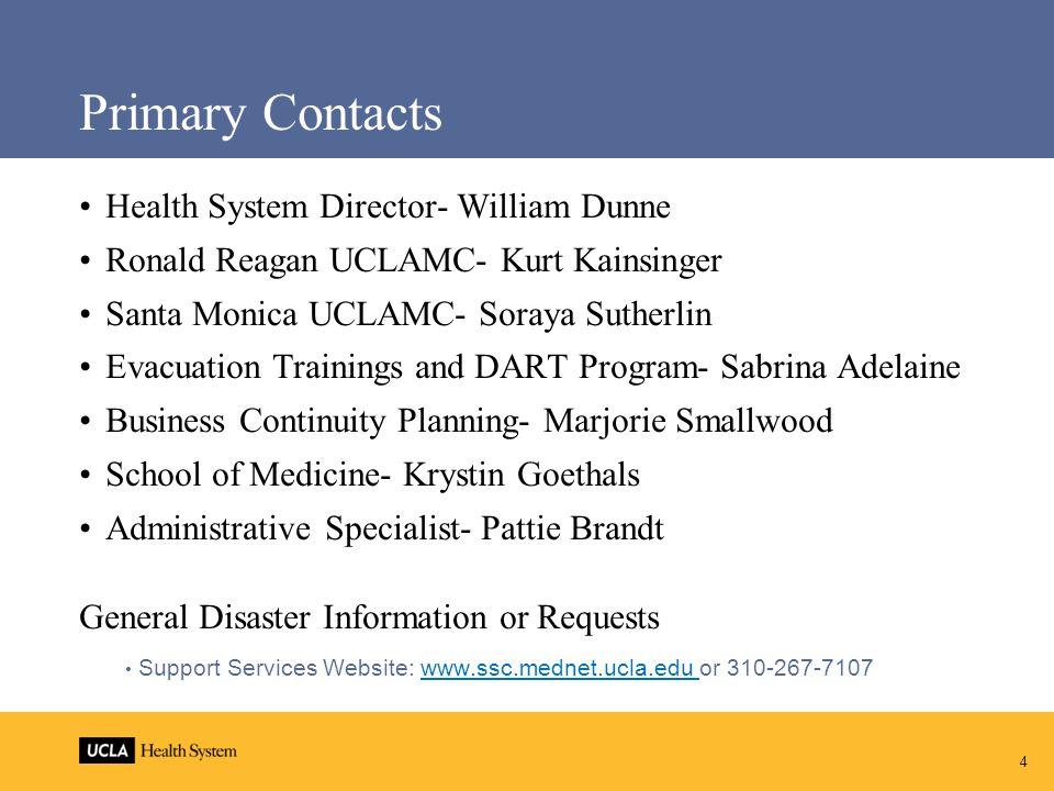 5 Office Locations Ronald Reagan: RRMC B641 Santa Monica: 1260 15 th Street, Suite 600 School of Medicine: CHS BR-219
