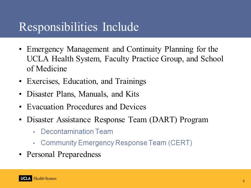 17 Contact Information Office of Emergency Preparedness 310-267-7107 oep@mednet.ucla.edu