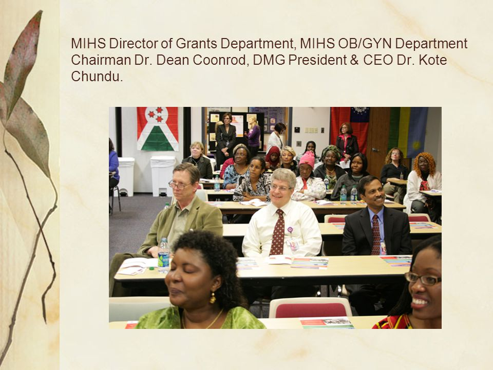 MIHS Director of Grants Department, MIHS OB/GYN Department Chairman Dr.