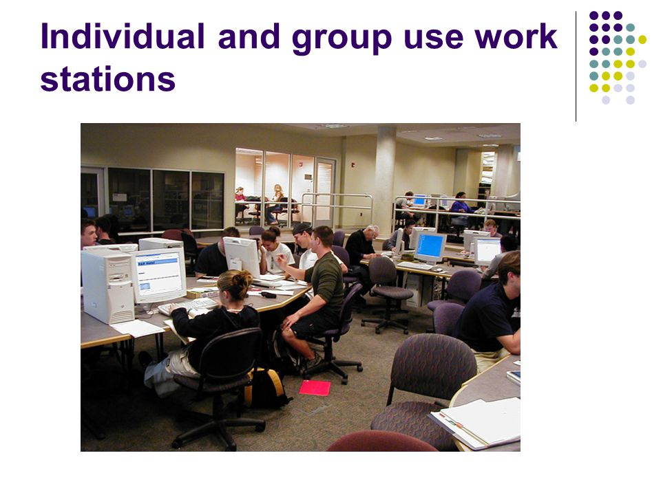 Individual and group use work stations