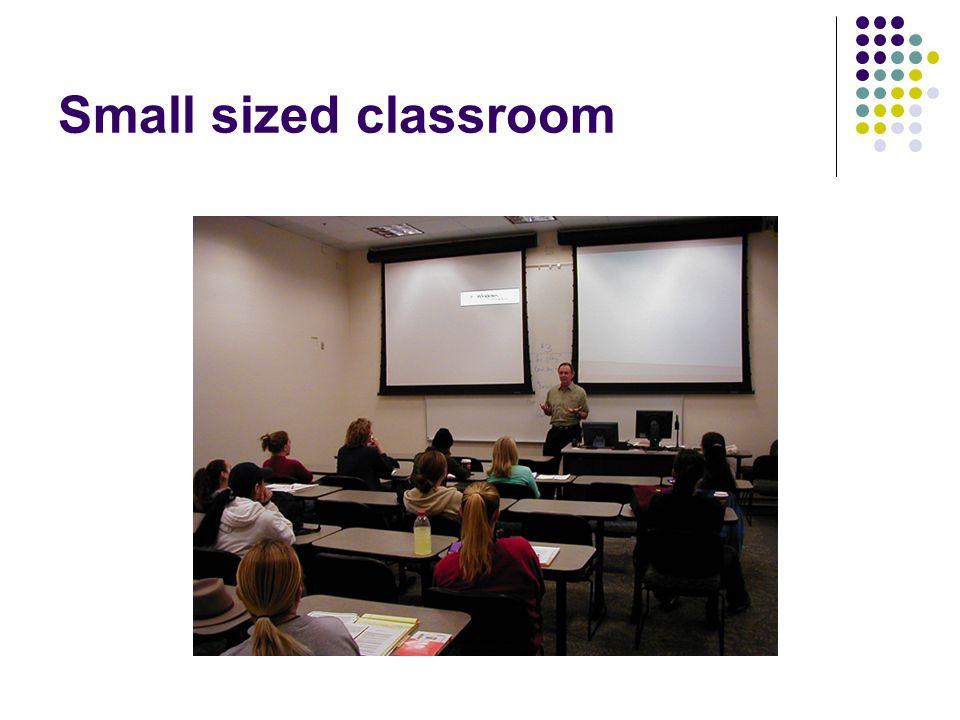 Small sized classroom