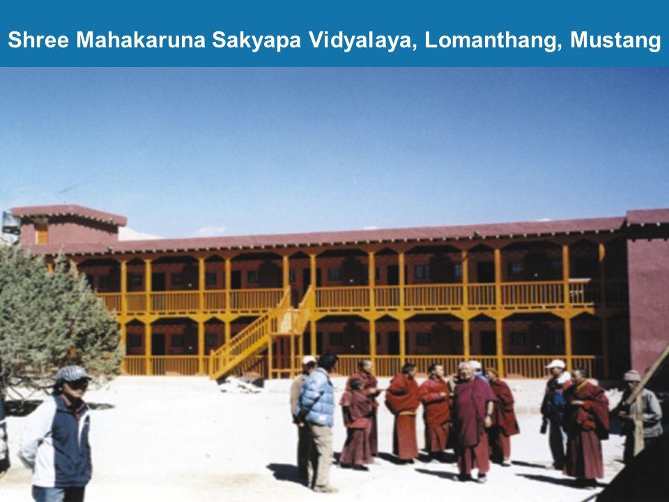 Shree Mahakaruna Sakyapa Vidyalaya, Lomanthang, Mustang