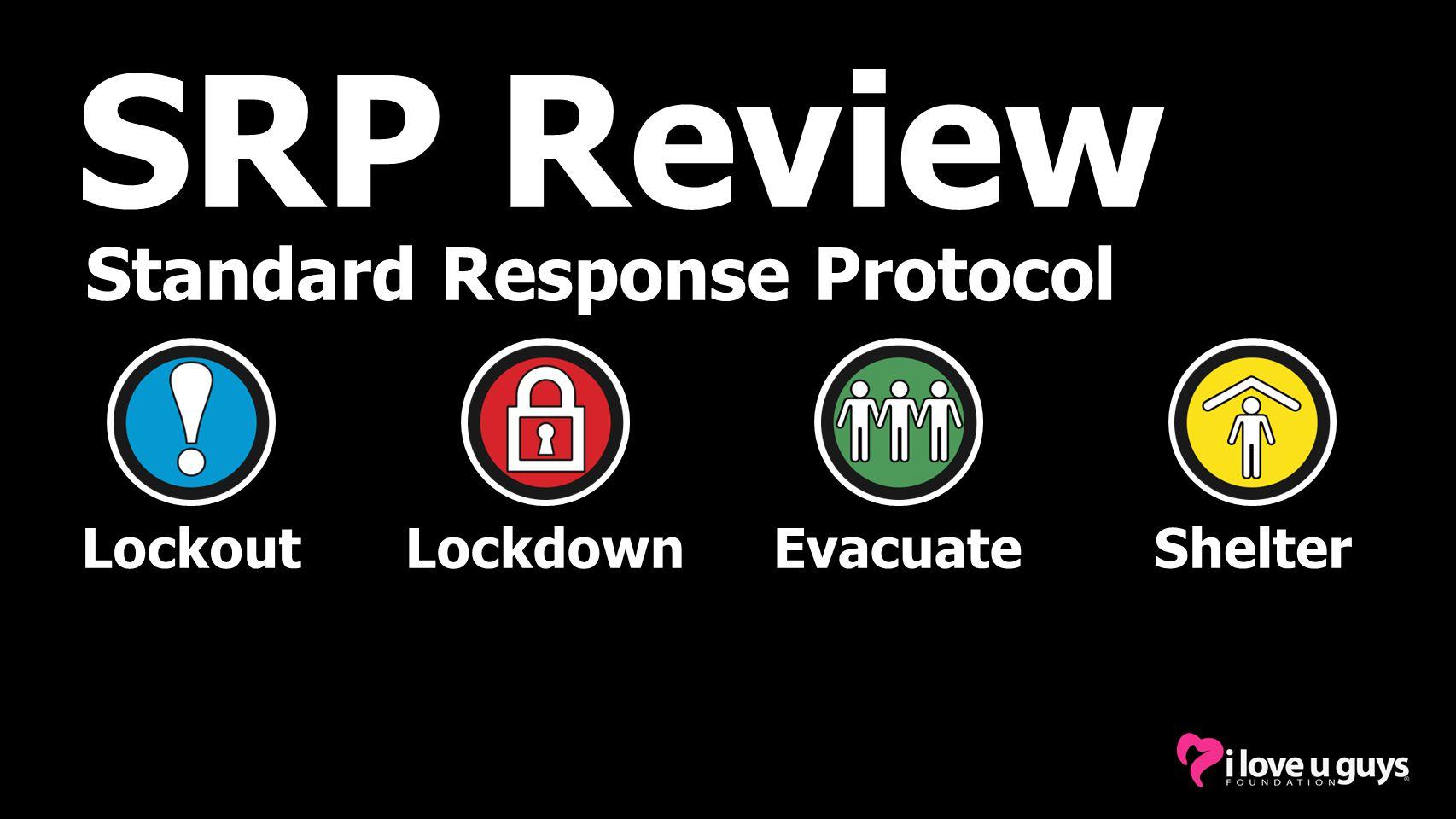 Standard Response Protocol SRP Review LockoutLockdownEvacuateShelter