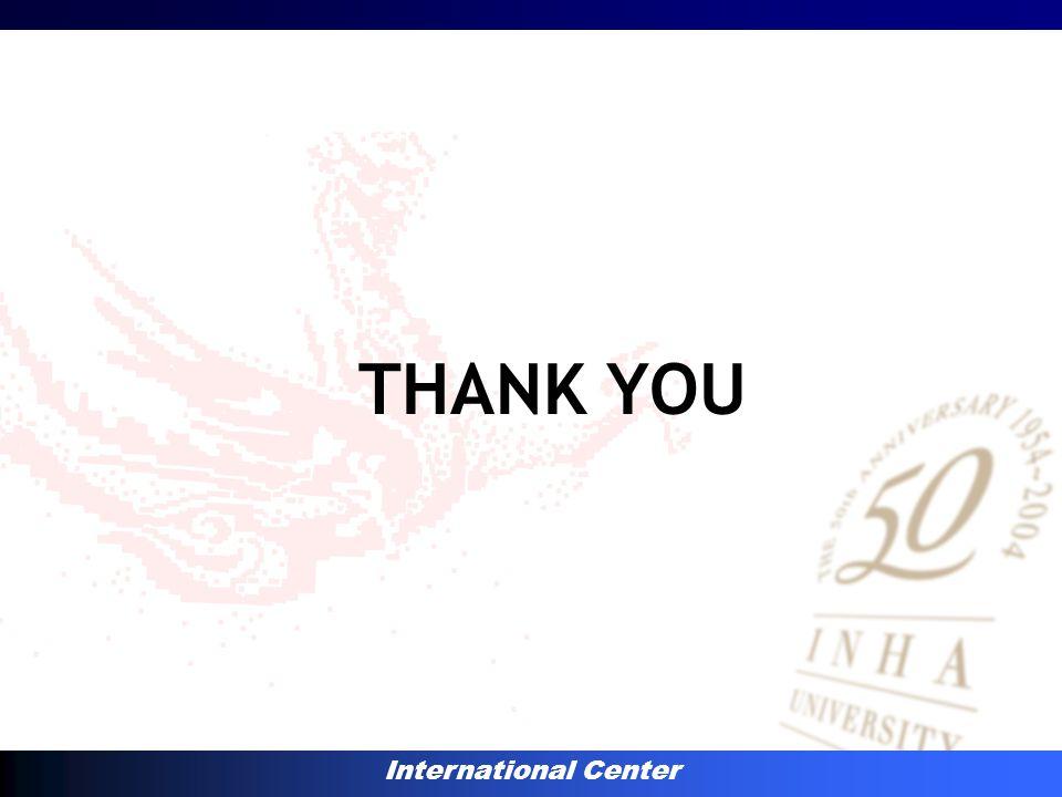 International Center THANK YOU