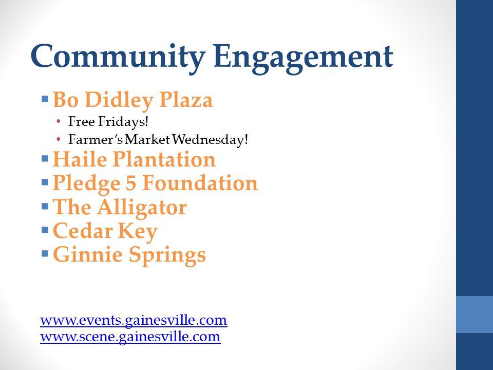 Community Engagement  Bo Didley Plaza Free Fridays.