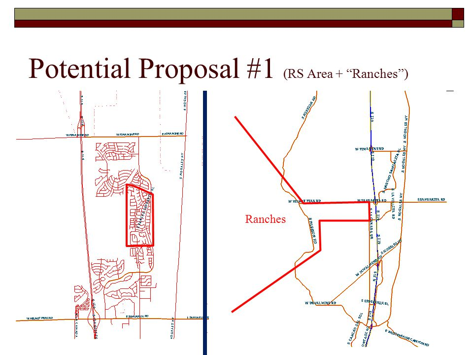 Potential Proposal #1 (RS Area + Ranches ) Ranches