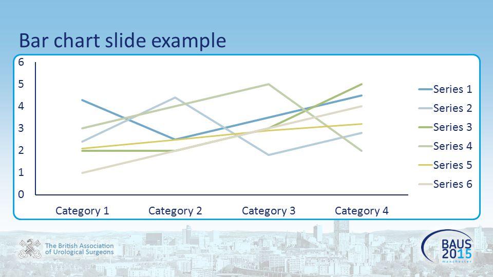 Pie chart slide example
