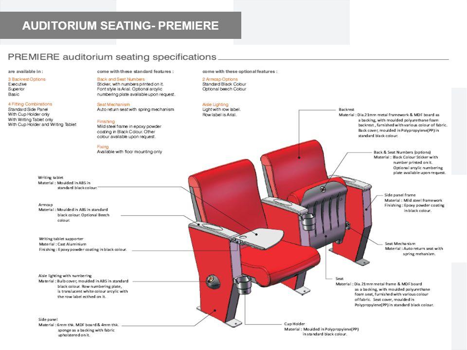 AUDITORIUM SEATING- PREMIERE