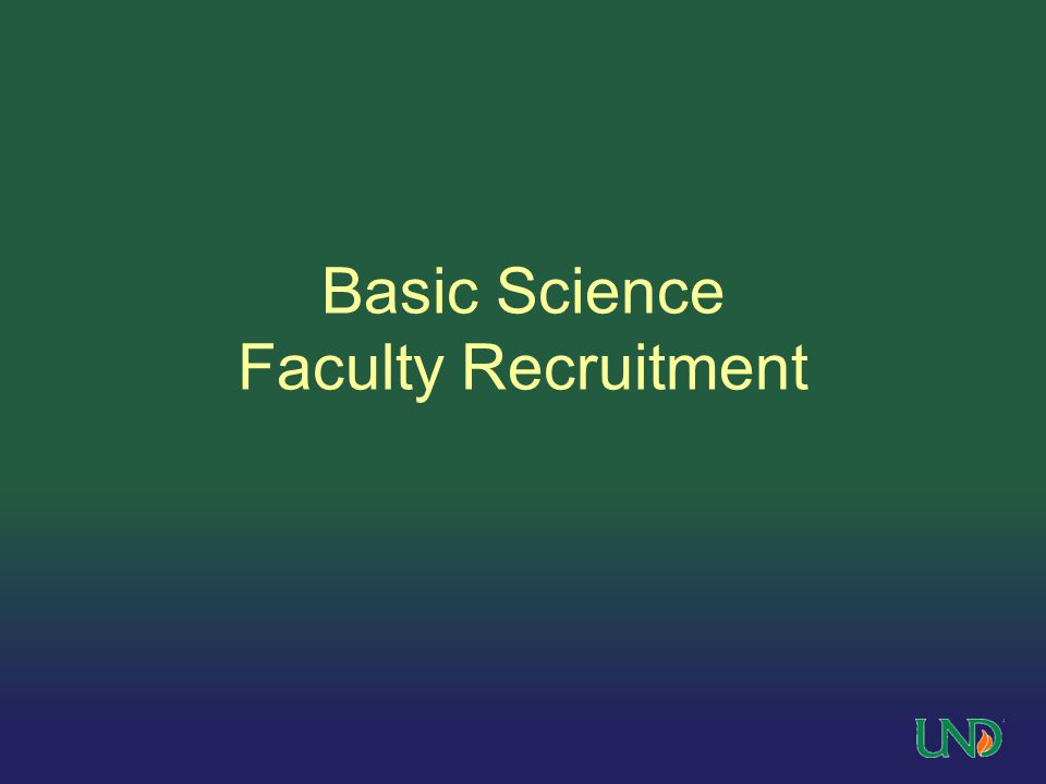 Basic Science Faculty Recruitment