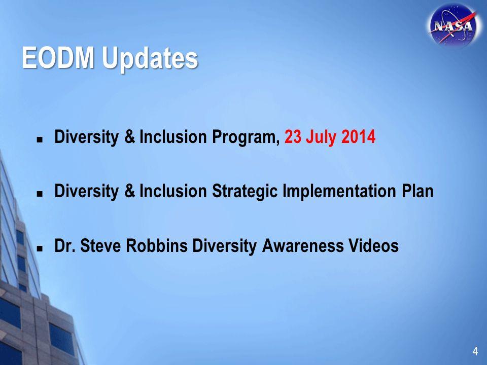EODM Updates Diversity & Inclusion Program, 23 July 2014 Diversity & Inclusion Strategic Implementation Plan Dr. Steve Robbins Diversity Awareness Vid