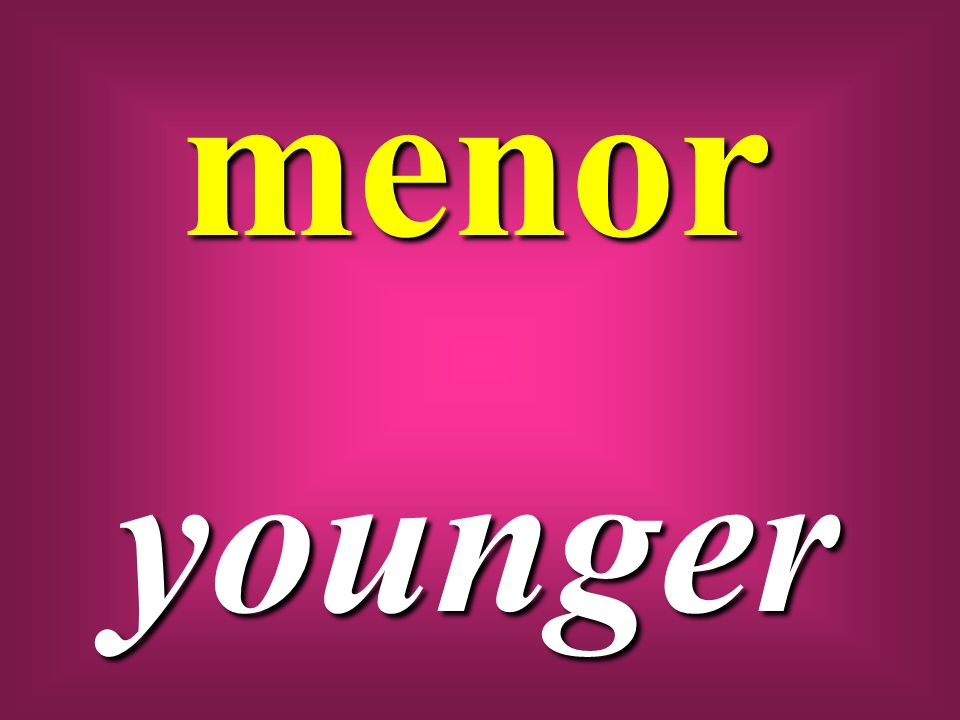 menor younger