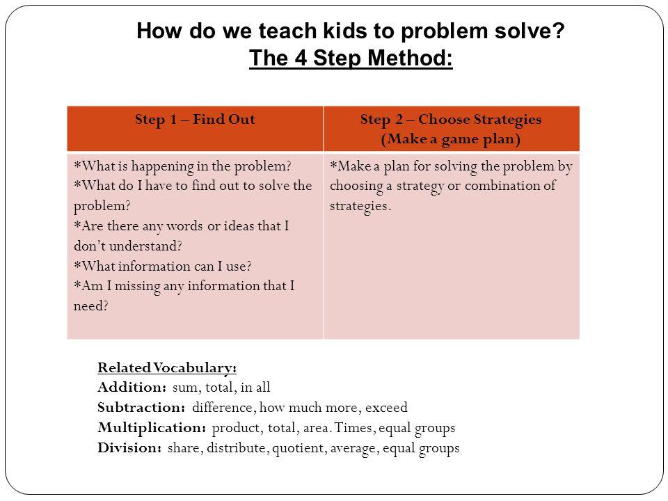 How do we teach kids to problem solve.